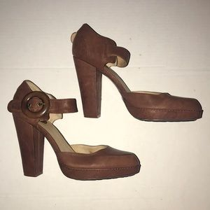 Frye Heidi 2 Piece Leather Heels